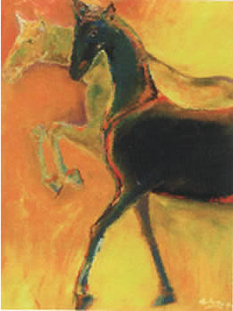 "Horse painting ""nobility"" by Sofan Chan"