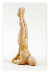 yoga sculpture shoulderstand